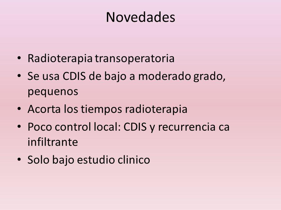 Novedades Radioterapia transoperatoria