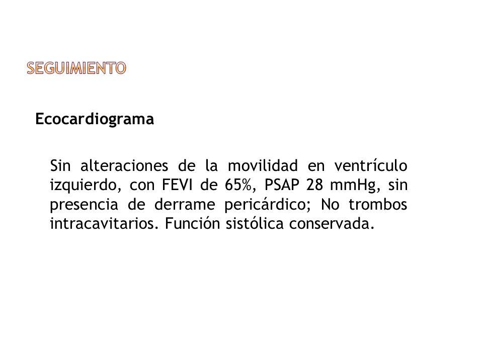Seguimiento Ecocardiograma.