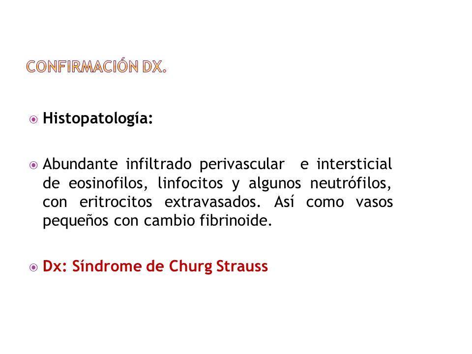 Confirmación Dx. Histopatología: