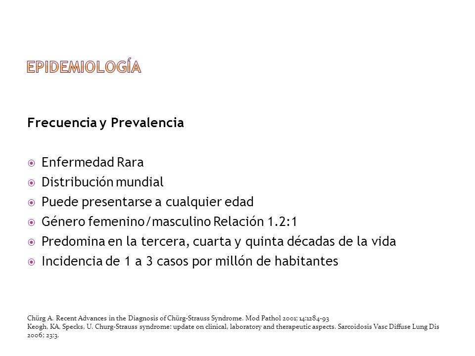 epidemiología Frecuencia y Prevalencia Enfermedad Rara