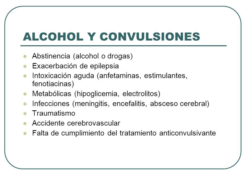 ALCOHOL Y CONVULSIONES