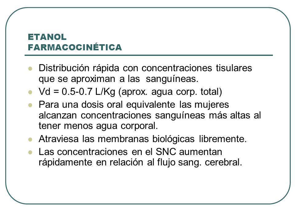 ETANOL FARMACOCINÉTICA