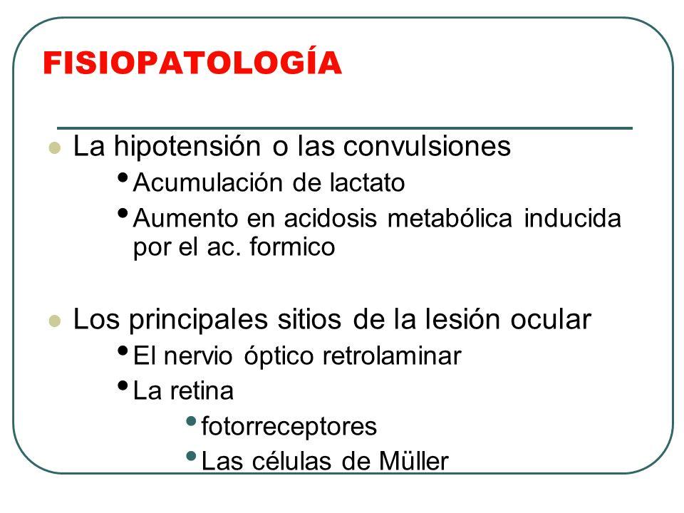 FISIOPATOLOGÍA La hipotensión o las convulsiones