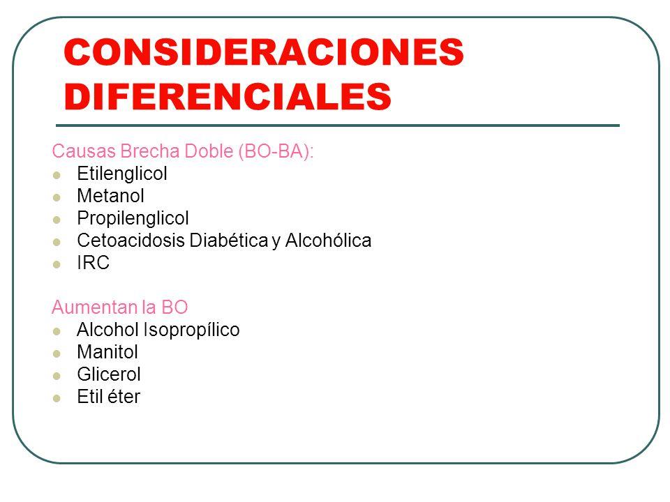 CONSIDERACIONES DIFERENCIALES