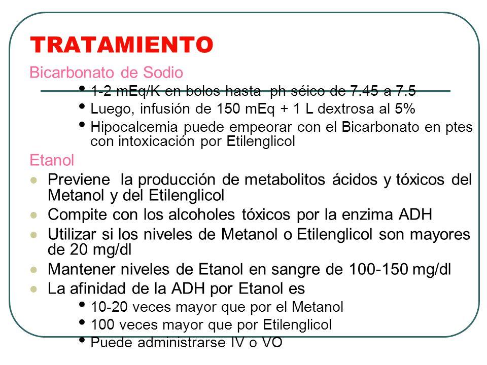 TRATAMIENTO Bicarbonato de Sodio Etanol