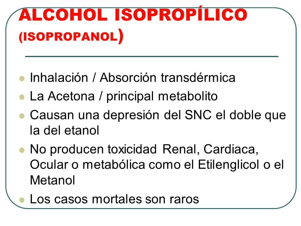 ALCOHOL ISOPROPÍLICO (ISOPROPANOL)