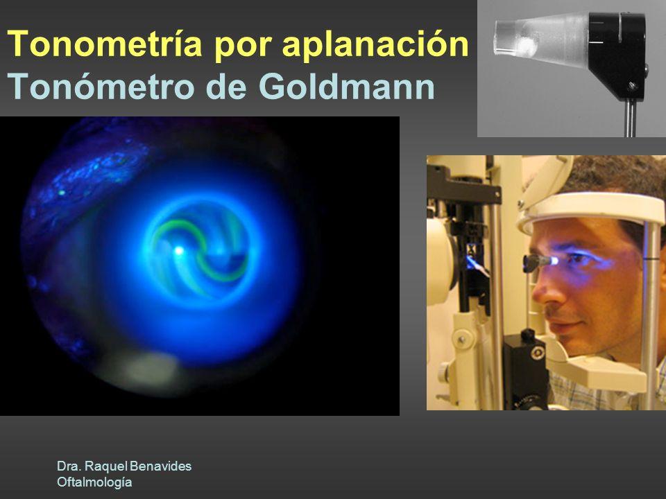 Tonometría por aplanación Tonómetro de Goldmann