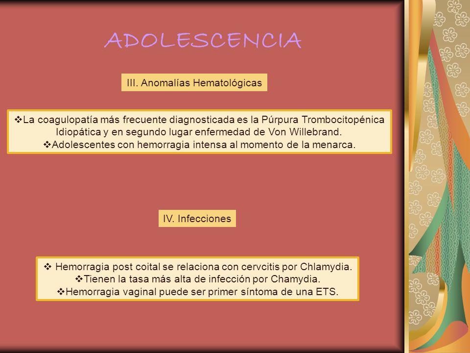 ADOLESCENCIA III. Anomalías Hematológicas