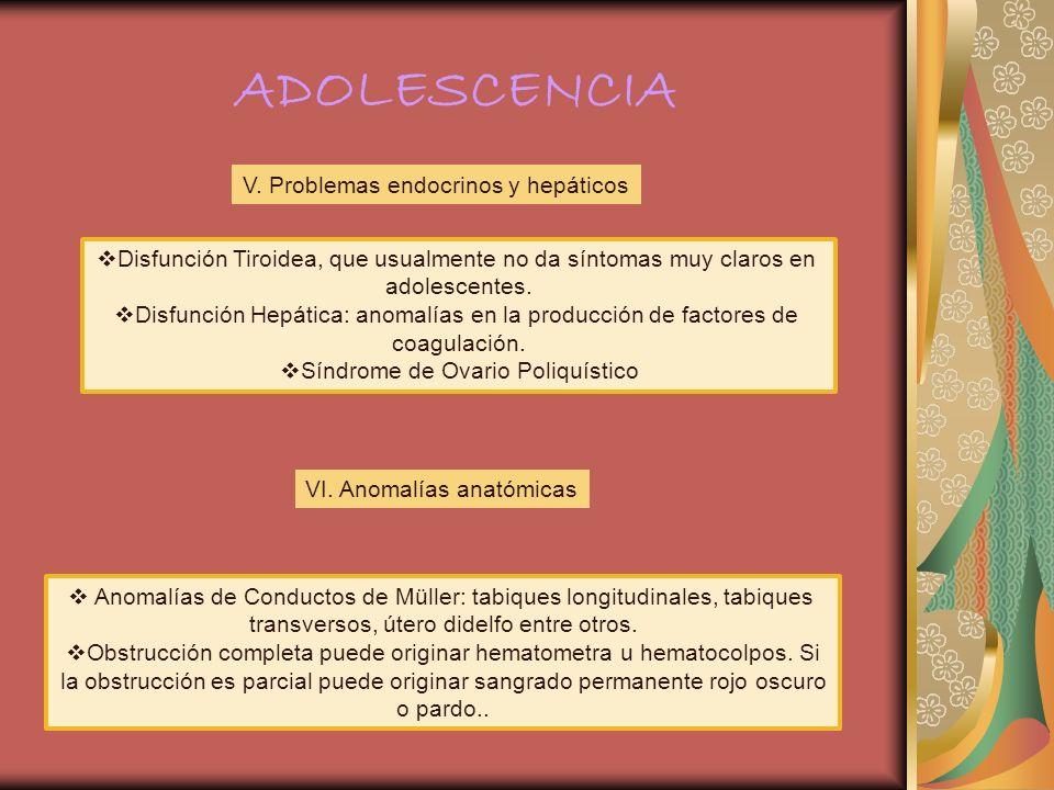 ADOLESCENCIA V. Problemas endocrinos y hepáticos