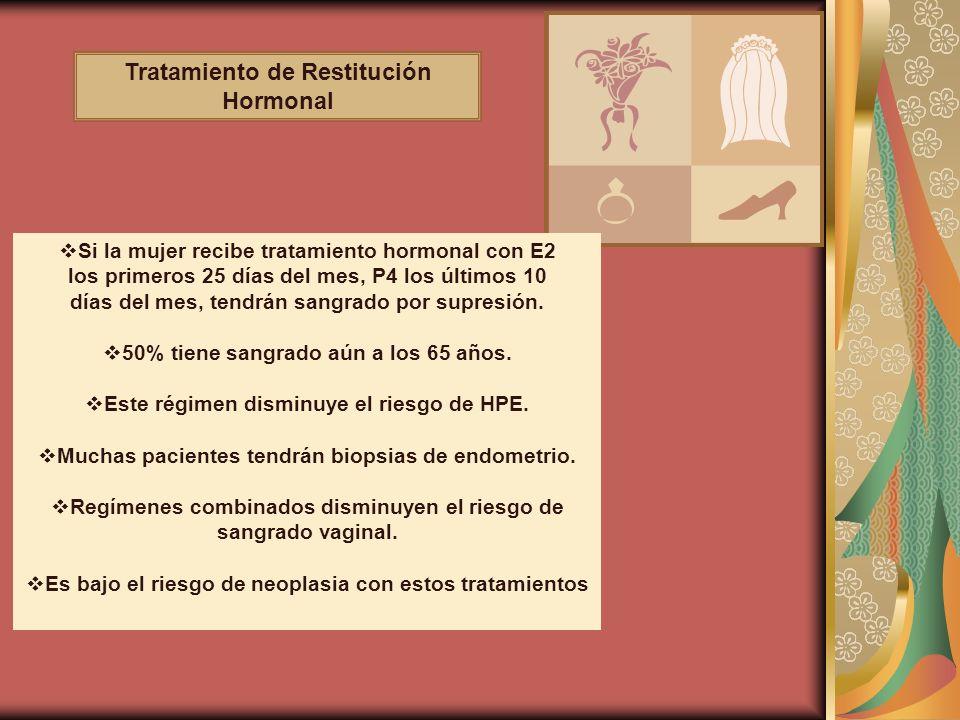 Tratamiento de Restitución Hormonal