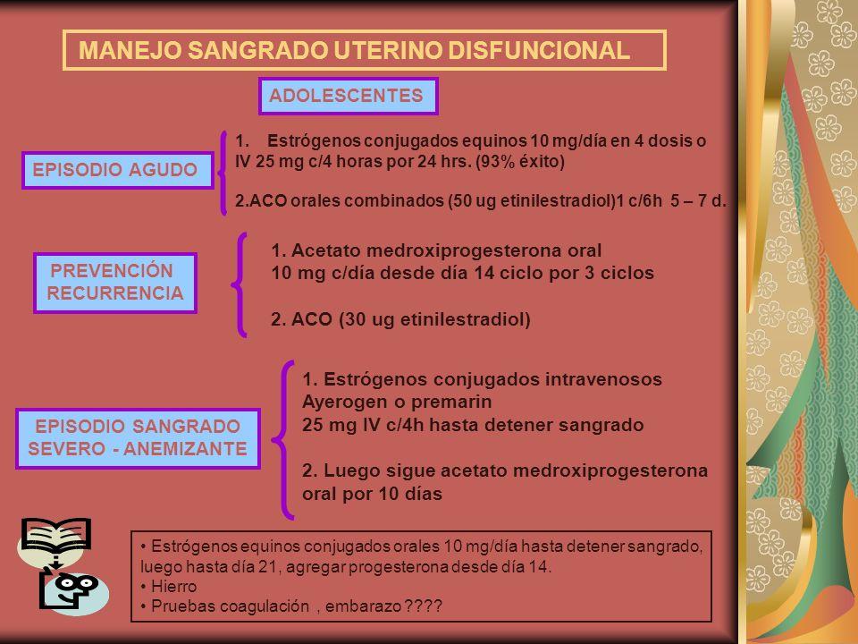 MANEJO SANGRADO UTERINO DISFUNCIONAL