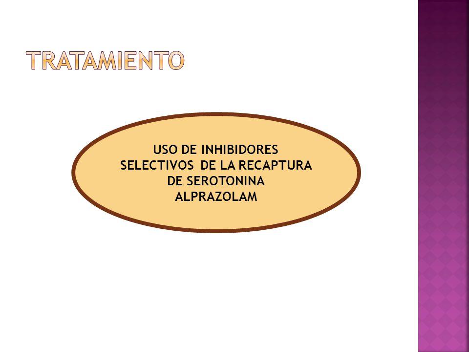 USO DE INHIBIDORES SELECTIVOS DE LA RECAPTURA DE SEROTONINA