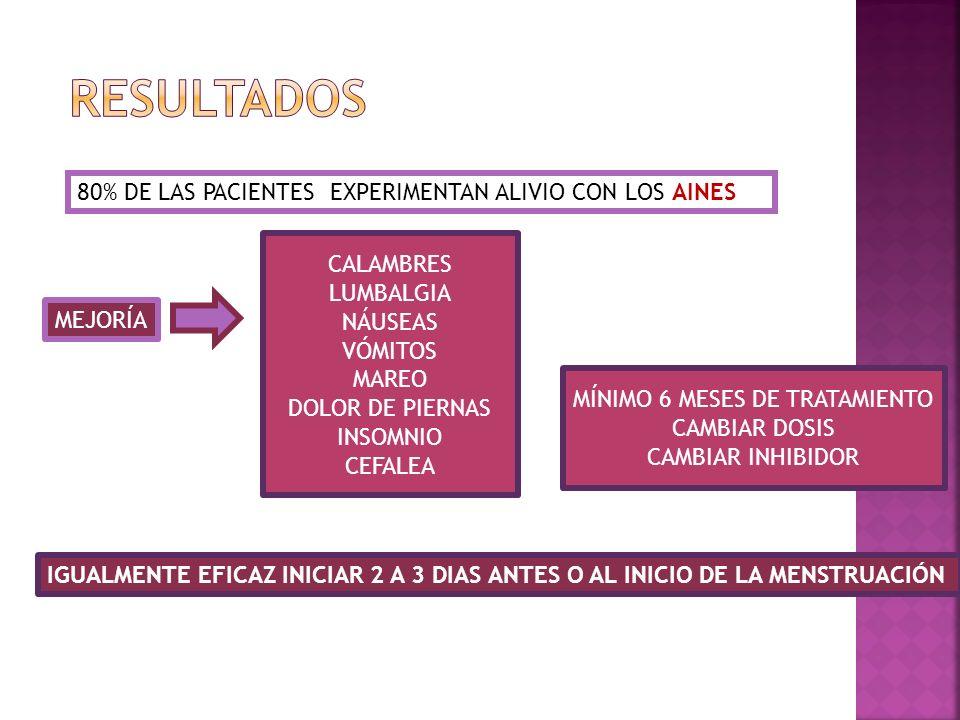 MÍNIMO 6 MESES DE TRATAMIENTO