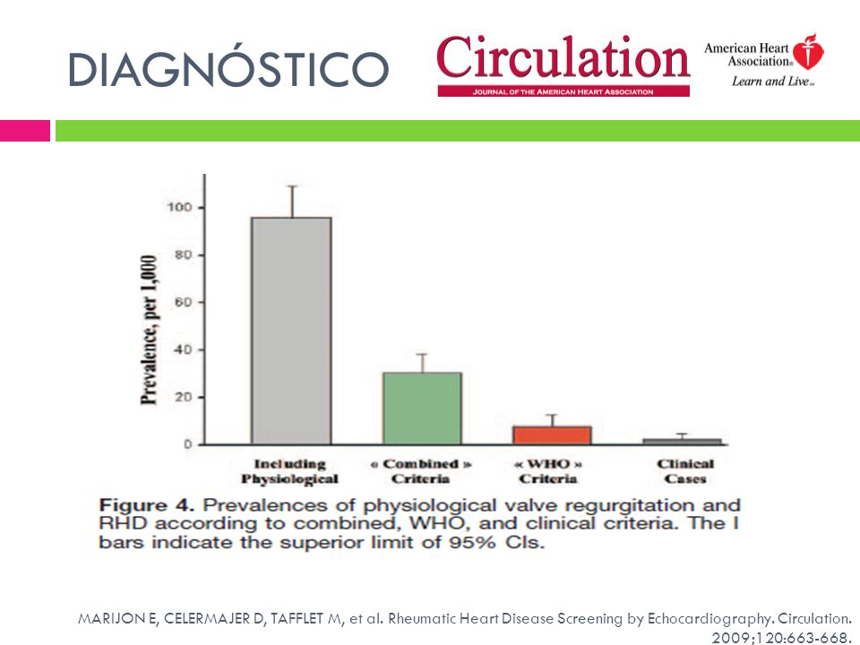 DIAGNÓSTICO MARIJON E, CELERMAJER D, TAFFLET M, et al.