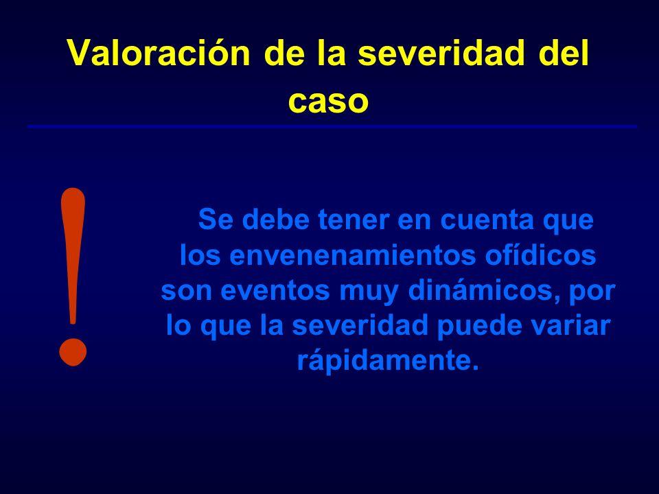 Valoración de la severidad del caso