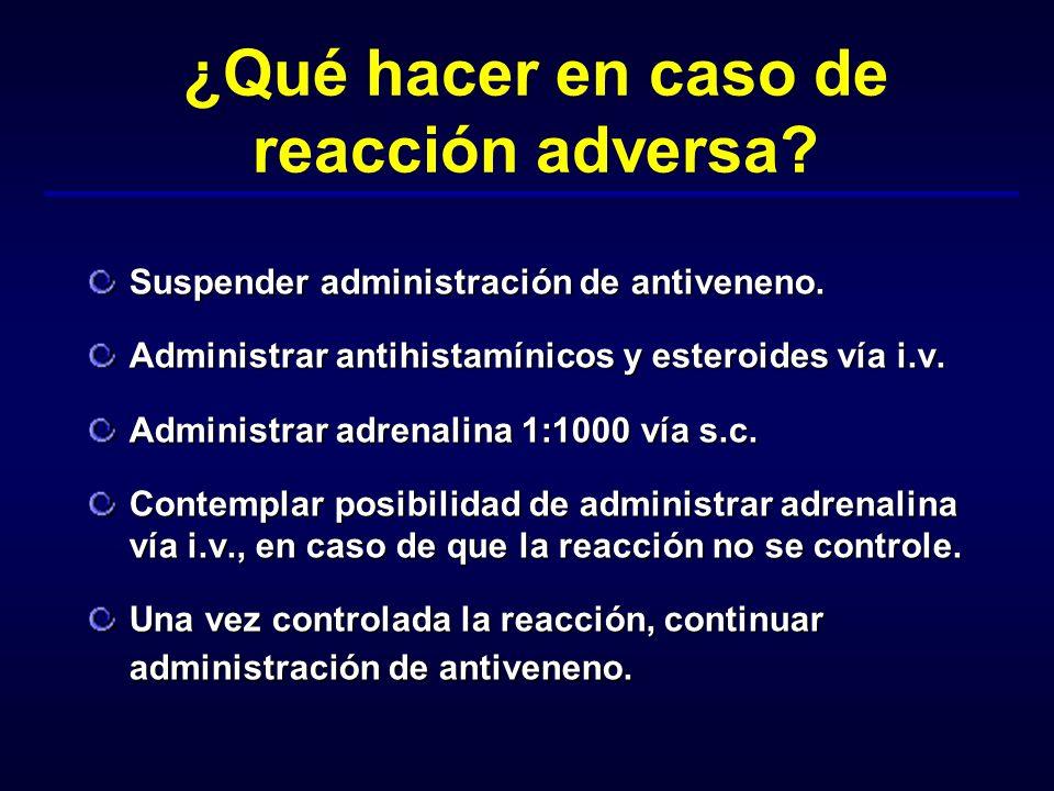 ¿Qué hacer en caso de reacción adversa