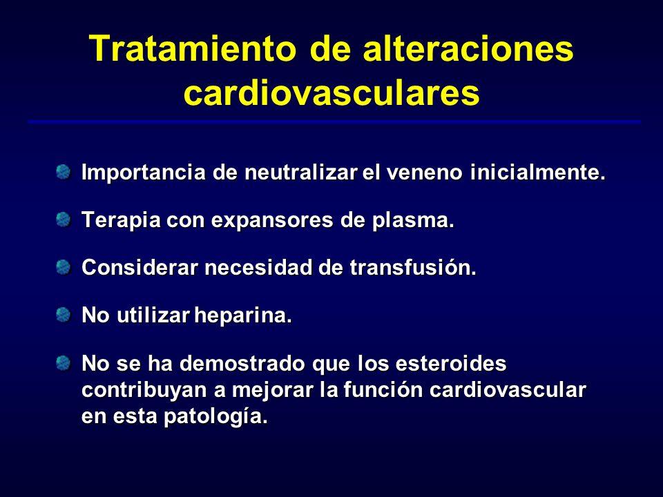 Tratamiento de alteraciones cardiovasculares