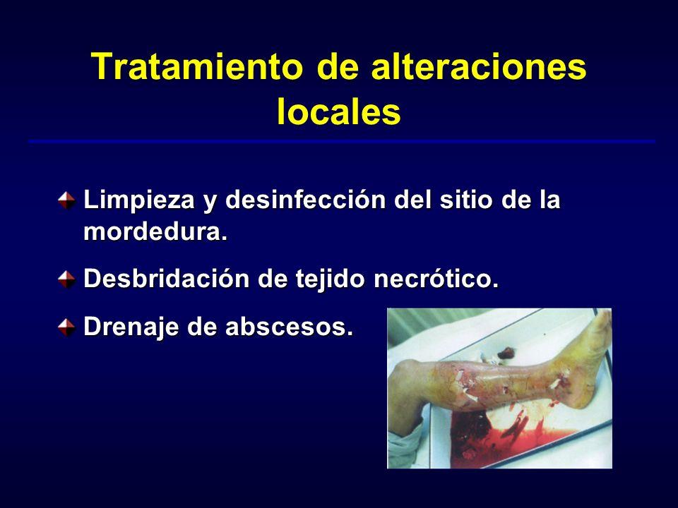 Tratamiento de alteraciones locales