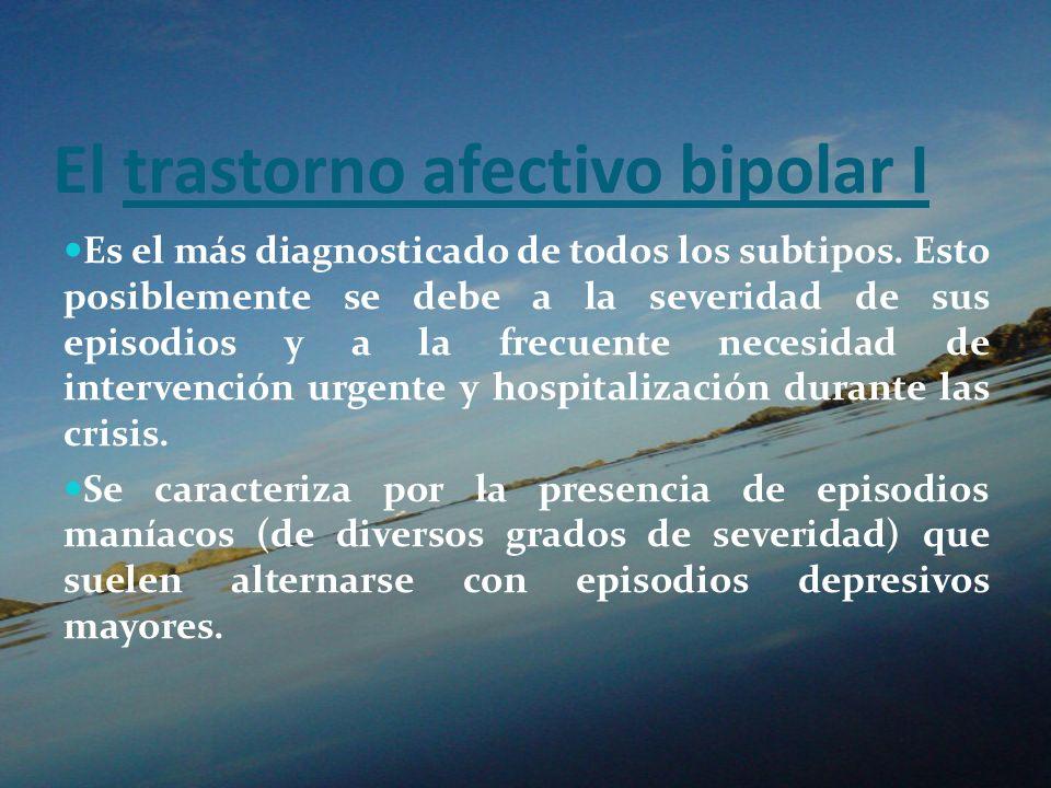 El trastorno afectivo bipolar I
