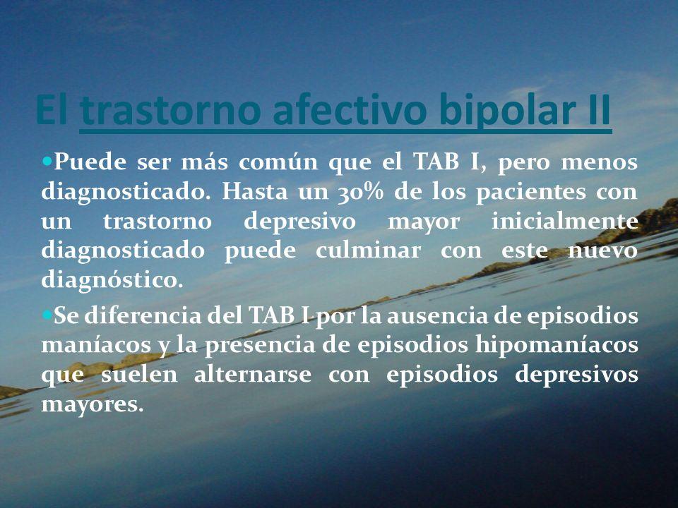 El trastorno afectivo bipolar II