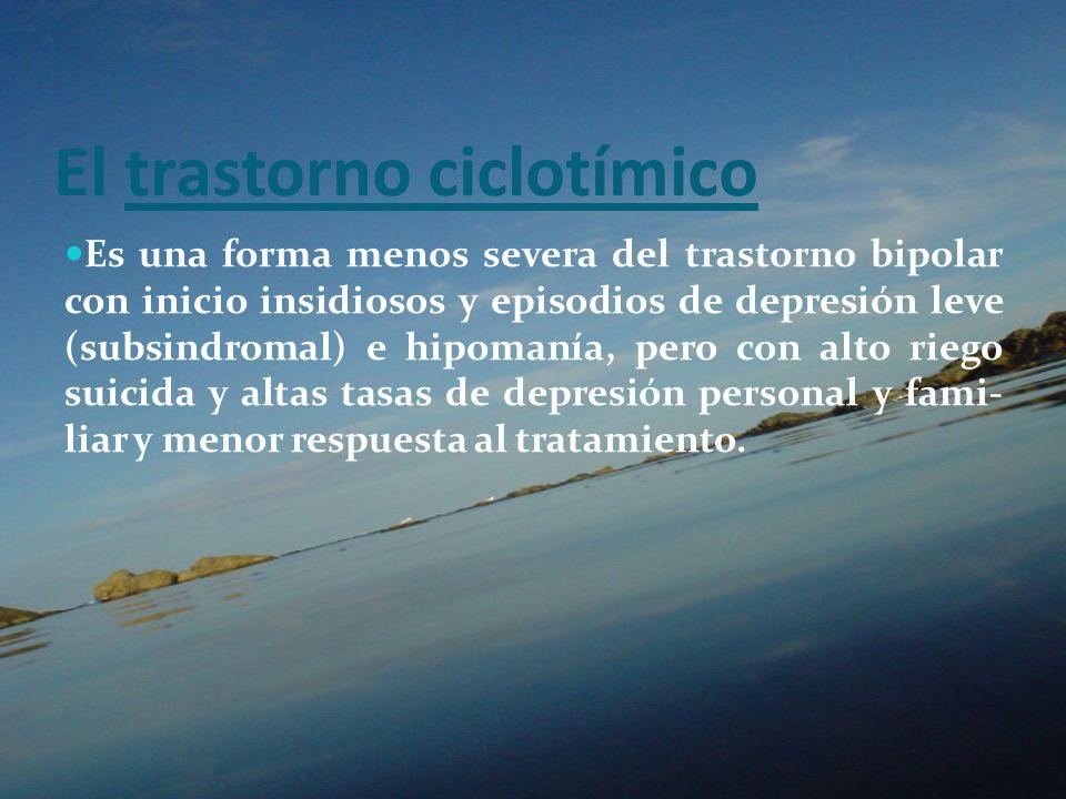 El trastorno ciclotímico
