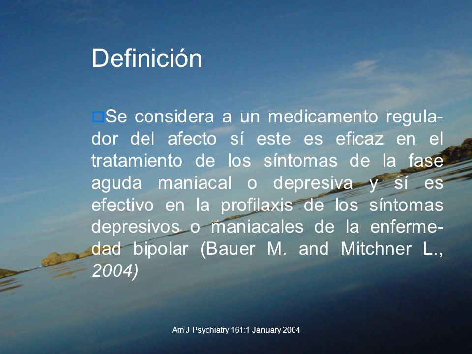 Am J Psychiatry 161:1 January 2004