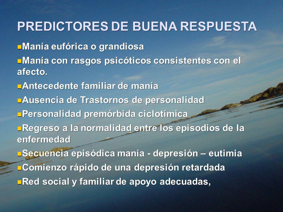 PREDICTORES DE BUENA RESPUESTA