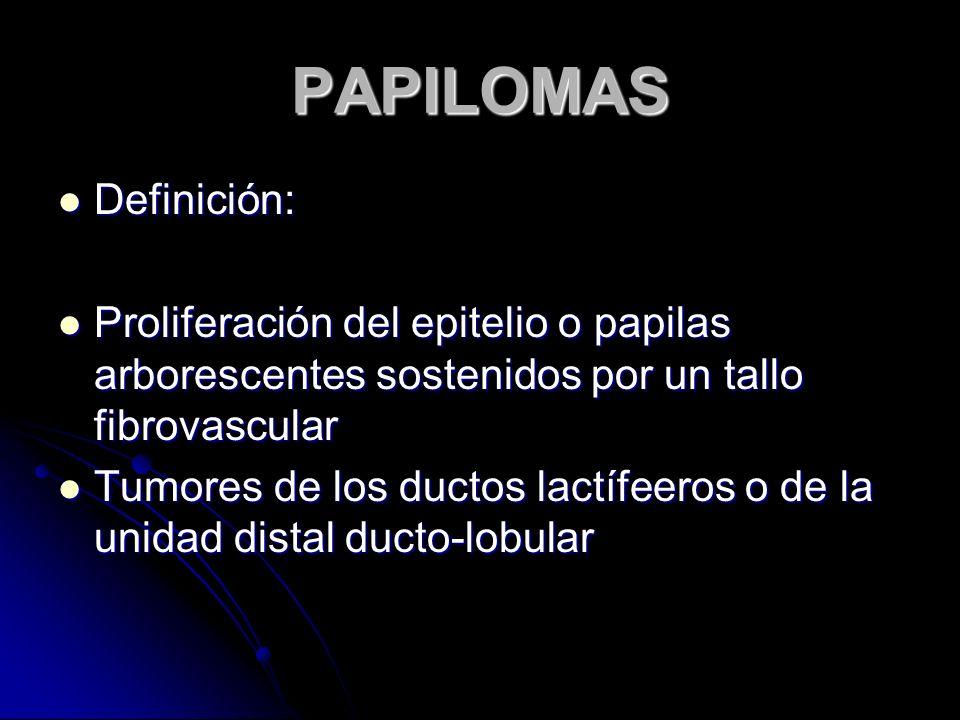 PAPILOMAS Definición: