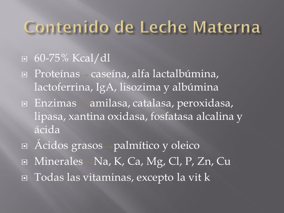 Contenido de Leche Materna