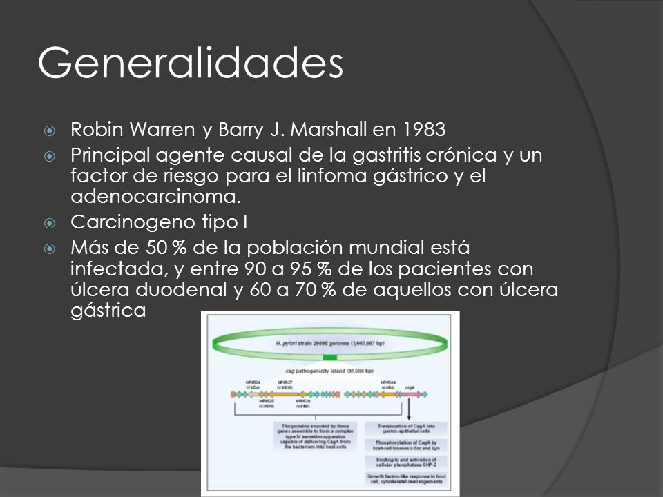 Generalidades Robin Warren y Barry J. Marshall en 1983