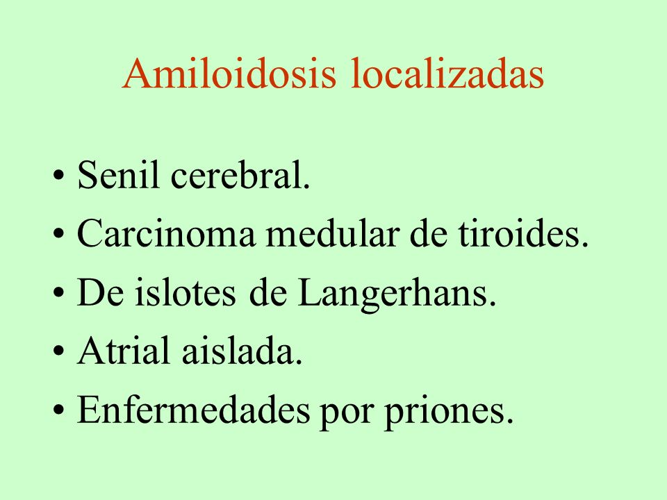 Amiloidosis localizadas