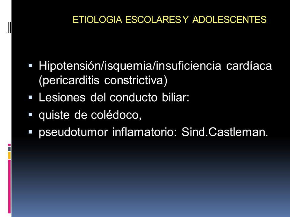 ETIOLOGIA ESCOLARES Y ADOLESCENTES