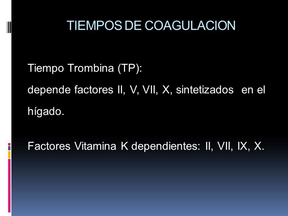 TIEMPOS DE COAGULACION