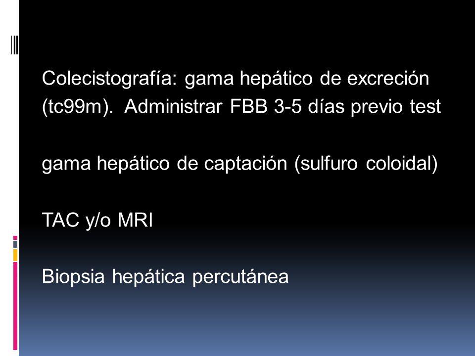 Colecistografía: gama hepático de excreción (tc99m)