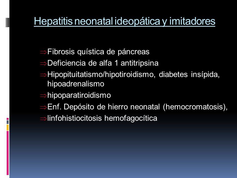 Hepatitis neonatal ideopática y imitadores