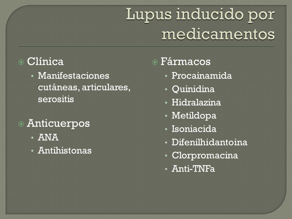Lupus inducido por medicamentos