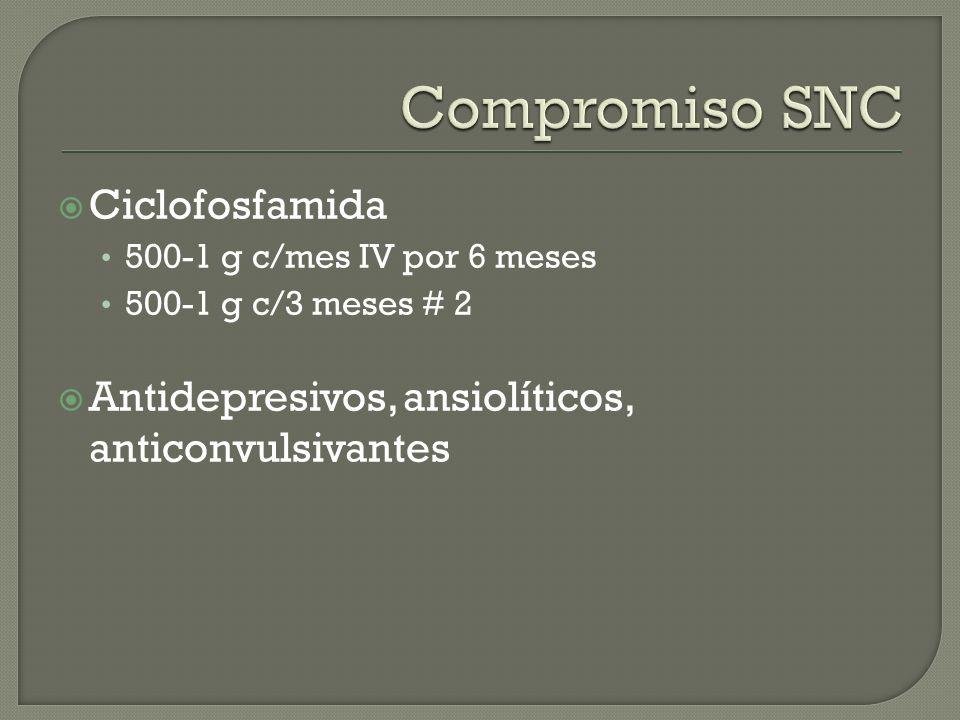 Compromiso SNC Ciclofosfamida