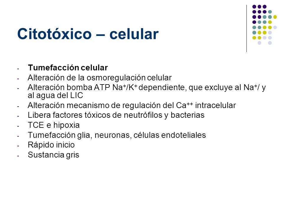 Citotóxico – celular Tumefacción celular