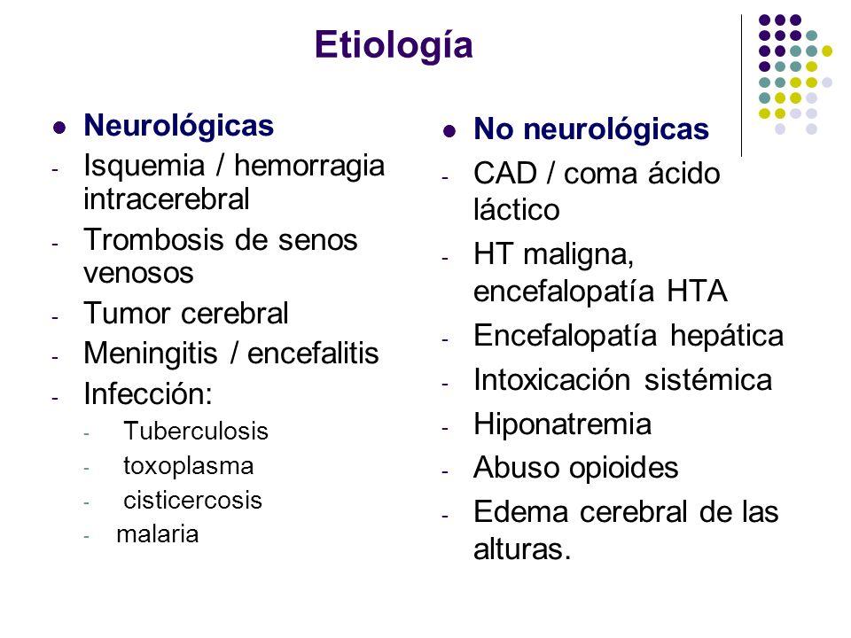Etiología Neurológicas Isquemia / hemorragia intracerebral