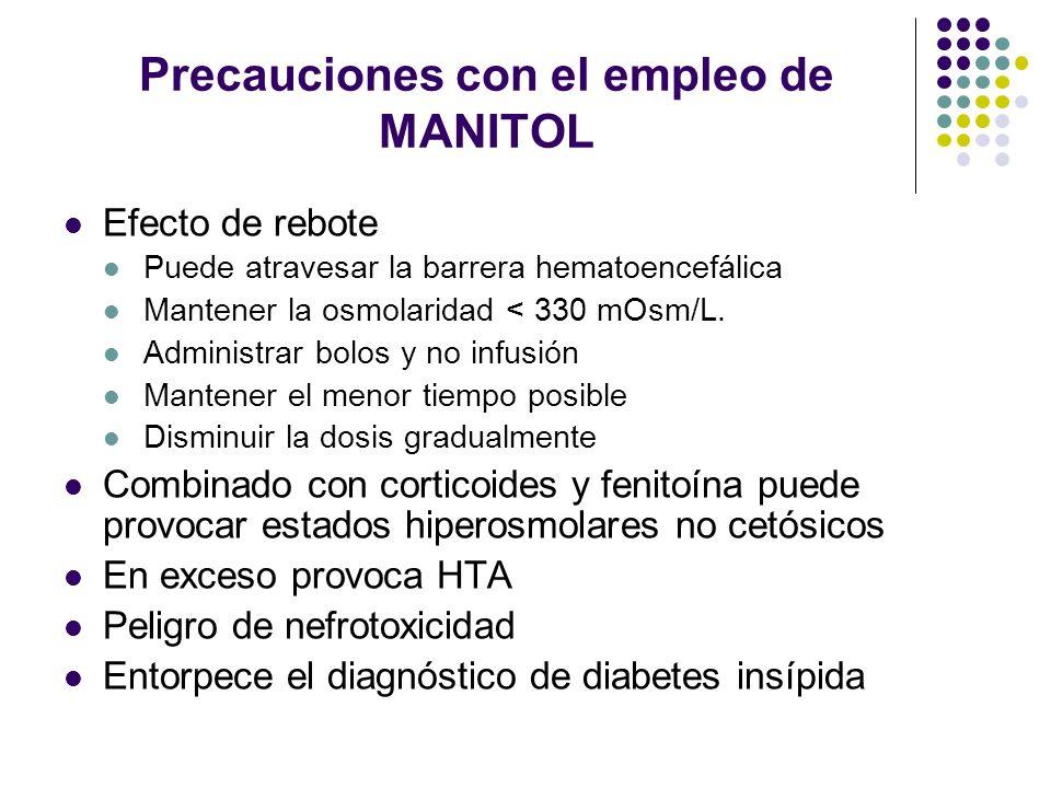 Precauciones con el empleo de MANITOL