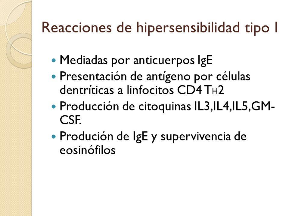 Reacciones de hipersensibilidad tipo I