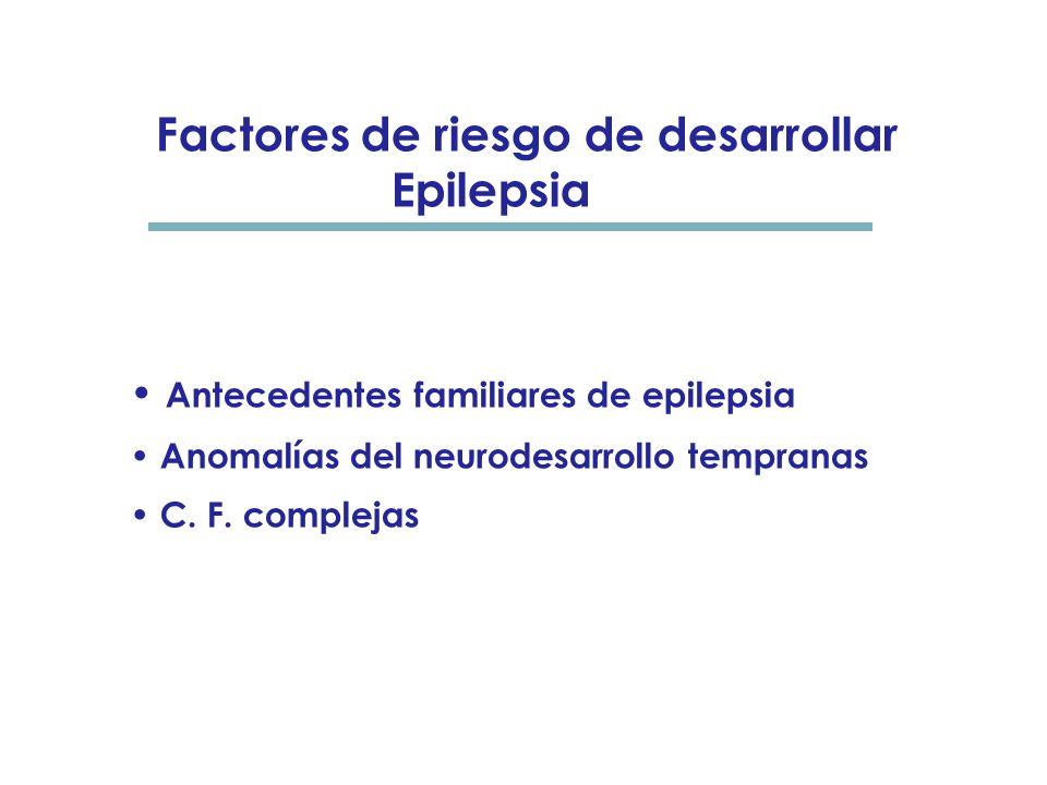 Factores de riesgo de desarrollar Epilepsia
