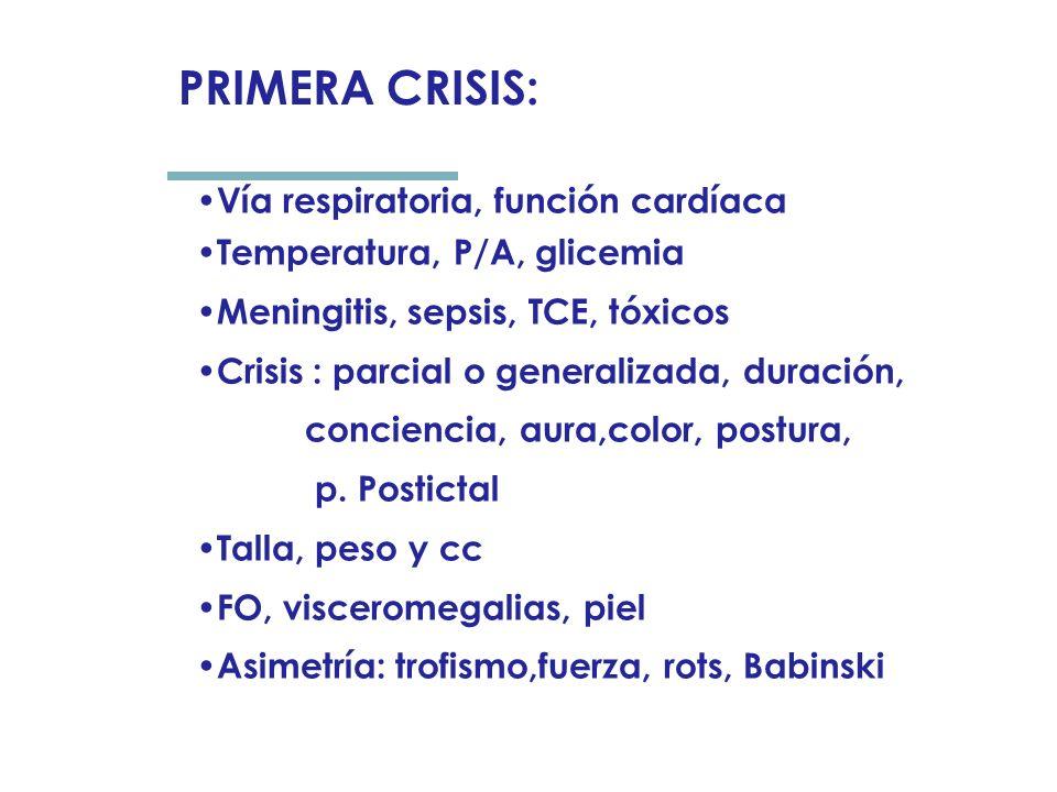 PRIMERA CRISIS: Vía respiratoria, función cardíaca