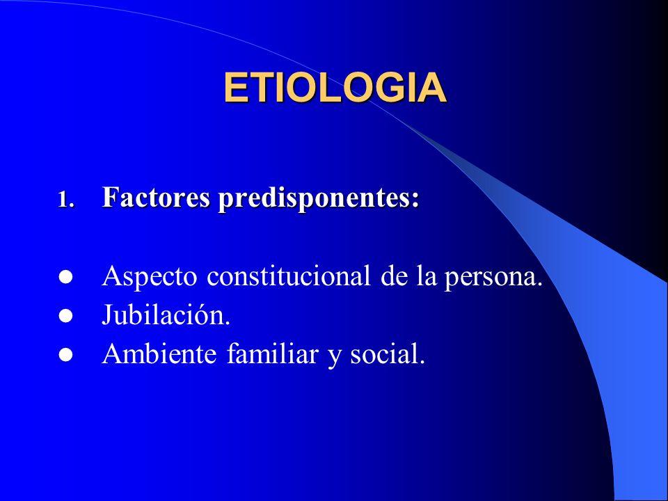 ETIOLOGIA Factores predisponentes: