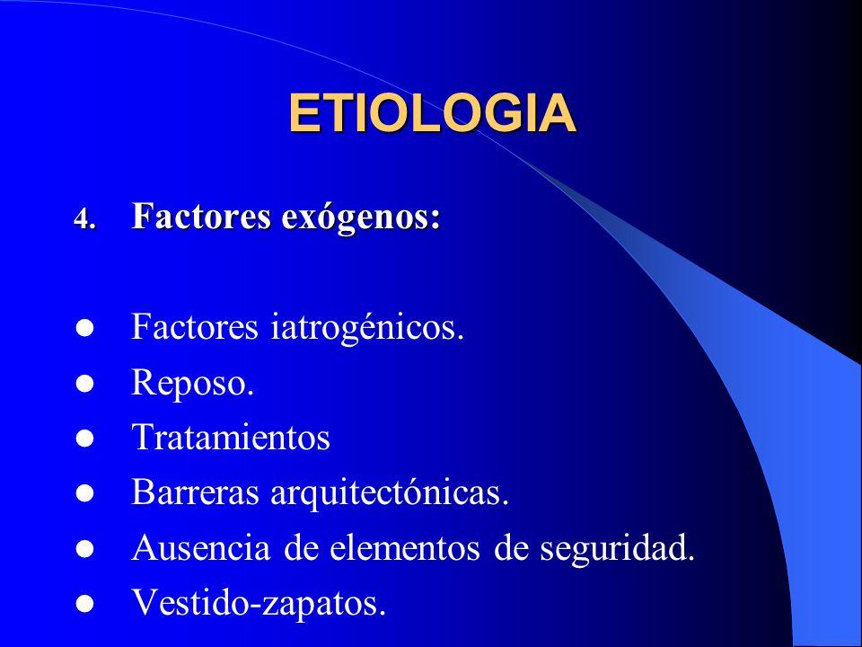 ETIOLOGIA Factores exógenos: Factores iatrogénicos. Reposo.