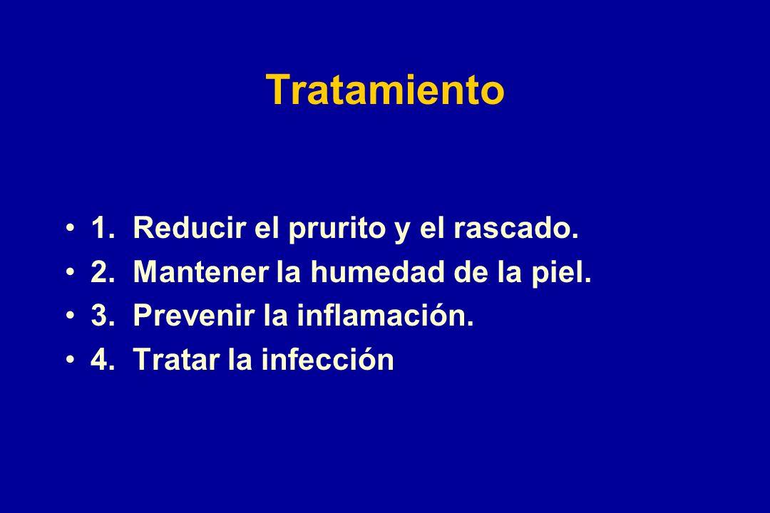Tratamiento 1. Reducir el prurito y el rascado.
