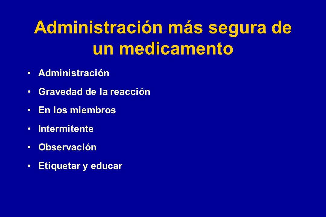 Administración más segura de un medicamento