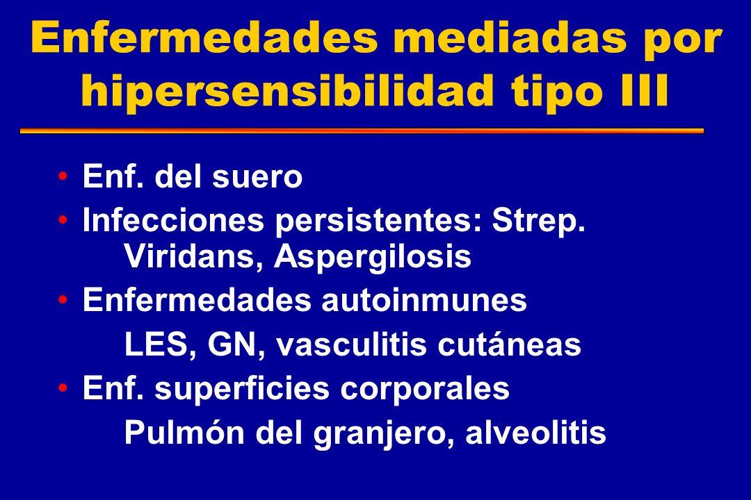 Enfermedades mediadas por hipersensibilidad tipo III