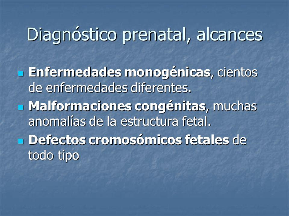Diagnóstico prenatal, alcances