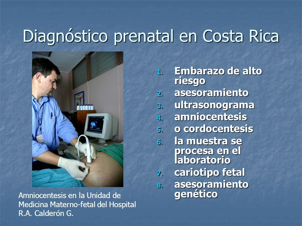 Diagnóstico prenatal en Costa Rica